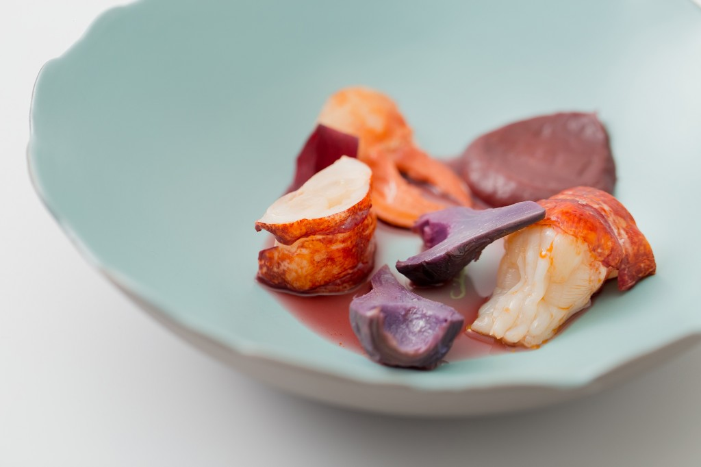 ÉPURE_Blue Lobster with Heirloom Carrot, Baby Artichoke and Elderberry Vinaigrette