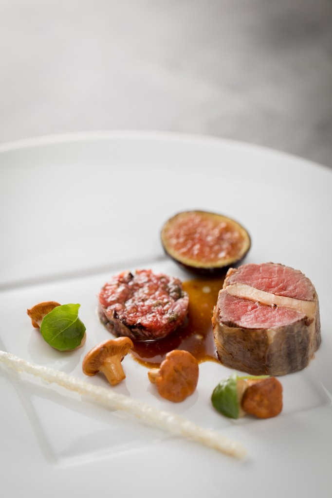 ÉPURE_Wild Boar Tenderloin with Duck Foie Gras, Girolle and Solliès Black Fig